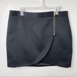 Ted Baker Sew In Love Black Zip Mini Skirt 12